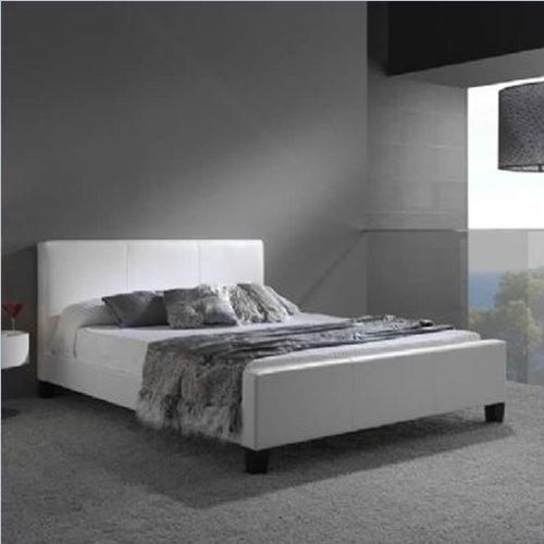 Fashion Bed Group Euro White Platform Bed, King