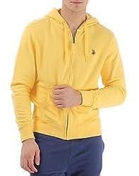 US POLO ASSOCIATION Men's Poly Cotton Sweatshirt (USSS0211_Yellow_Small)