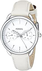 Fossil Women's ES3806 Tailor Stainless Steel Watch with Leather Band