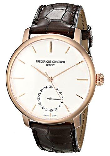 Frederique Constant FC710V4S4 - Reloj para hombres, correa de cuero color marrón