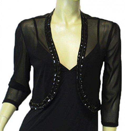 Alivila.Y Fashion Boutique Beaded Mesh Shrug Bolero 010