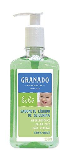 Linha Bebe Granado - Sabonete Liquido de Glicerina Erva Doce 250 Ml - (Granado Baby Collection - Fennel Glycerin Liquid Soap 8.45 Fl Oz)