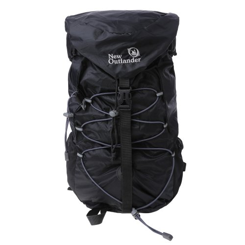 New Outlander Packable Water Resistant Handy Lightweight Travel Backpack Hiking Bag 30L (Black)