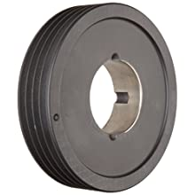Martin Hi-Cap TB Sheave, 3V Belt Section, 4 Grooves, Class 30 Gray Cast Iron