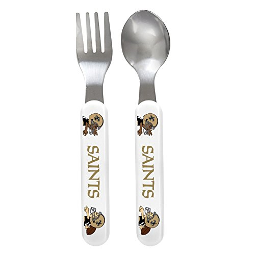 Baby Fanatic Fork And Spoon Set, New Orleans Saints front-1008188