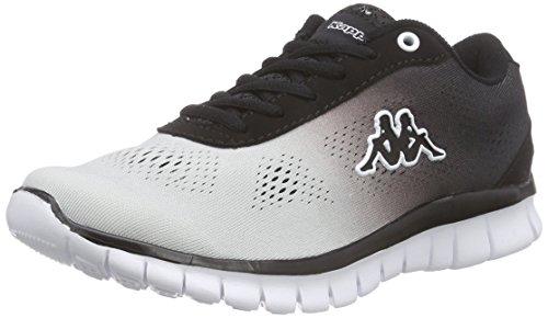 KappaSUNRISE LIGHT Footwear unisex, Mesh/Synthetic - Scarpe da Ginnastica Basse Unisex - Adulto , Bianco (Weiß (1011 white/black)), 44