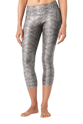 MPG Julianne Hough Women's Dare Printed Capri XS Future Web Grey