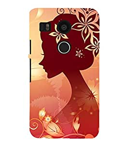 99Sublimation Animated Girl 3D Hard Polycarbonate Back Case Cover for LG Nexus 5X :: New
