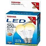 東芝 LED電球 ミニクリプトン電球形 4.3W(全光束:250 lm/電球色相当)【2個セット】E-CORE(イー・コア) LDA4L-E17-2P