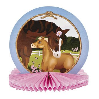 Mare & Foal Tissue Centerpiece - Party Tableware & Table Decorations