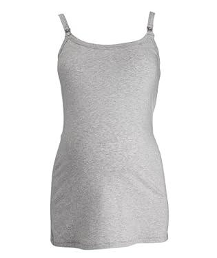 Maternity Nursing Longline Vest -Grey Marl