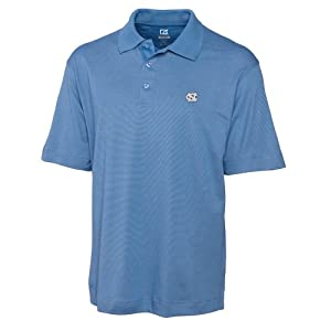 NCAA Mens North Carolina Tar Heels Sea Blue Drytec Resolute Polo Tee by Cutter & Buck