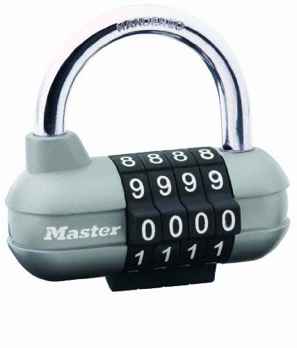 Master Lock 1520EURD Lucchetto Pro Sport, Combinazione Programmabile a 4 Cifre, 59 mm