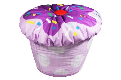 Newco International Kids Cupcake Bean Bag, Lavender