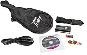 Peavey Electric Guitar Accessory Pack: Gig Bag, Cable, DVD, Picks, Strap, Tuner
