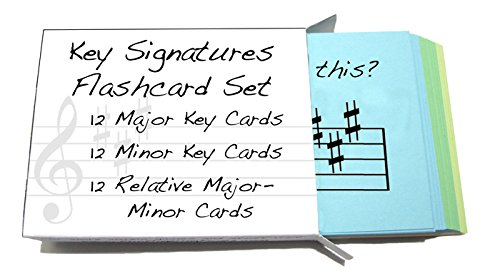 Key Signature Flashcards- Minor, Major & Relative Major-Minors - Really fun design!