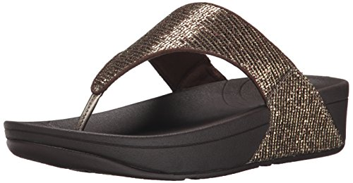 Fitflop Women's Lulu Superglitz Textile Sandal, Copper, 6 M US (Fitflop compare prices)