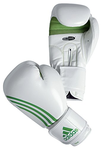 Adidas Boxfit Boxing Gloves ClimaCool - White/Green - 10oz
