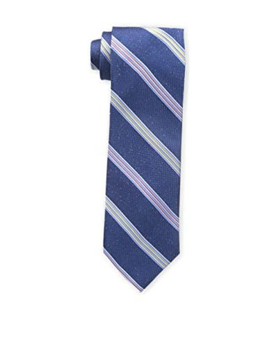 Bruno Piattelli Men's Fancy Multi Stripe Tie, Blue