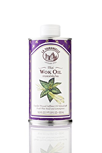 La Tourangelle Thai Wok Oil - Subtle Flavors of Thai Basil and Lemongrass - 16.9 Fl. Oz. (Wok Oil compare prices)