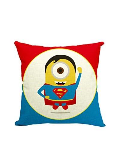 LO+DEMODA Funda De Cojín Minion Superman Multicolor