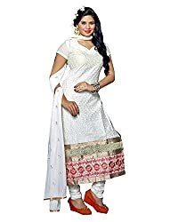 YOUR STYLE VOL.3 WHITE EMBRODERY WORK MATERIAL BY BALKRISHNA FABRICS