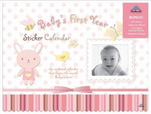 Baby's First Year Girl Undated Wall Calendar