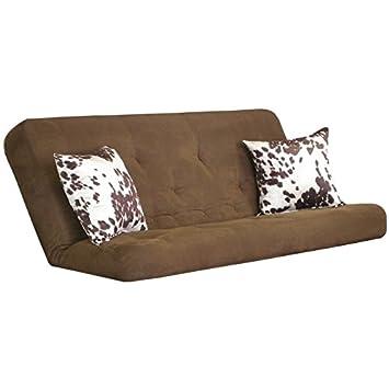 Big Tree Furniture 8-Inch Futon Mattress with 22-Inch Udder Mad Milk Pillows