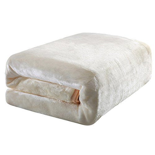 Balichun Luxury Fleece Blanket Super Soft Warm Lightweight Bed Blankets Twin/Queen/King(King,Ivory) (Thermal Blankets Queen Size compare prices)