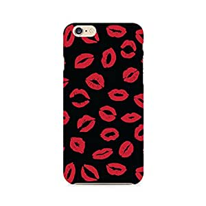 Motivatebox- Red On Black Premium Printed Case For Apple iPhone 6/6s -Matte Polycarbonate 3D Hard case Mobile Cell Phone Protective BACK CASE COVER. Hard Shockproof Scratch-