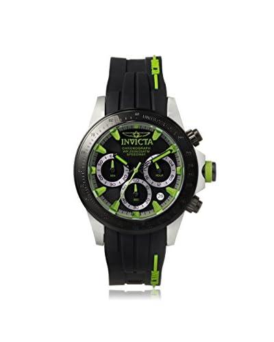 Invicta Men's 17192 Speedway Black/Green Silicone Watch