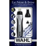 Wahl 5546-200 Ear, Nose and Brow 2-in-1 Deluxe Lighted Trimmer, Black/silver