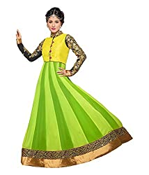 Sanjana Design Women's Georgette Dress Material ( KS6306_Free Size_Green)