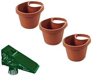 3 Piece Drain Pipe Planter Set & EZ Clean Downspout Screen