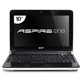 Acer Aspire One AOD150-1669 10.1-Inch Seashell White Netbook - 6.5 Hour Battery Life