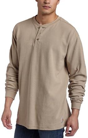 Carhartt Men's  Textured Knit Henley Shirt, Dark, Medium