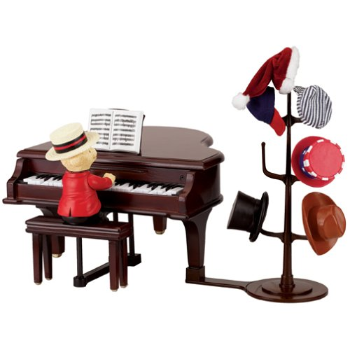 Gold Label Teddy Takes Requests with Baby Grand Piano Music Box