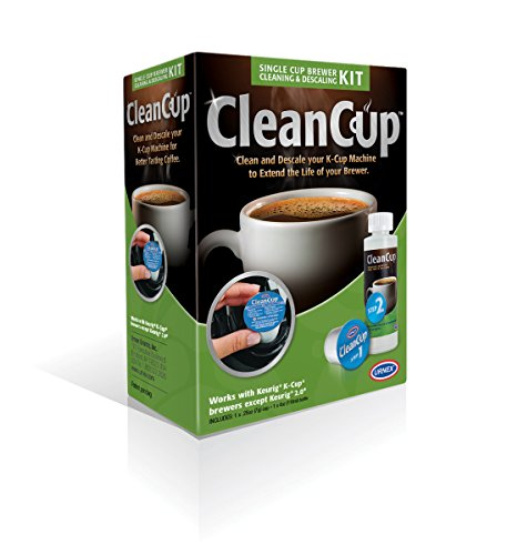CleanCup Single Cup Brewer Cleaning and Descaling Kit.