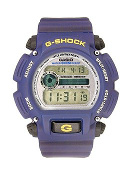 Casio Men's DW9052-2V Blue Rubber Strap Digital Sports Watch