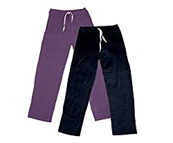 IndiWeaves Women Super Combo Pack 4 (Pack of 2 Lower/Track Pant and 2 T-Shirt)_Purple::Black::Red::Black _M