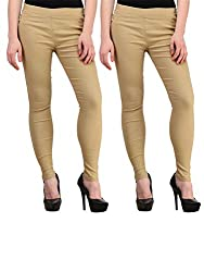 Atharv Collections Women's Jeggings (2BEIGE_34_Beige_34)