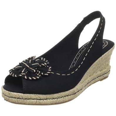 Naturalizer Women's Berlynn Slingback Sandal,Black Fabric,4 M US