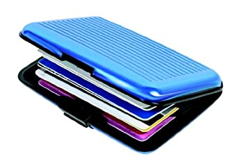 Aluminum Aluma hard case Credit Cards Wallet in Blue
