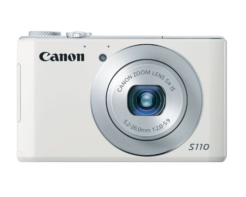 Canon PowerShot S110 12MP Digital Camera with 3-Inch LCD (White)