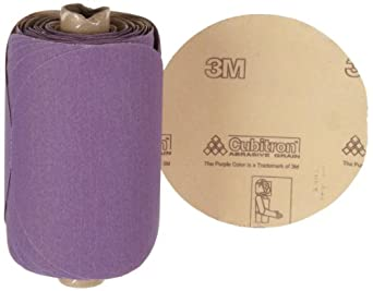 "3M Stikit Paper Disc Roll 735U, PSA Attachment, Ceramic Aluminum Oxide, 5"" Diameter, P150 Grit (Roll of 100)"