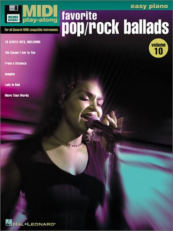 Vol. 10 Favorite Pop/Rock Ballads: Easy Piano MIDI Play Along Book/Disk Pack (MIDI Play-Along (Numbered)) (Numbered Disks compare prices)
