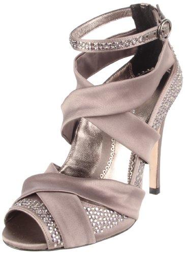 Bourne Women's Grace Smoke Ankle Strap Heel L08429 8 UK
