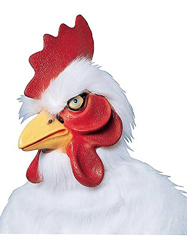 Chicken Mask (White) Supreme Halloween Costume Accessory
