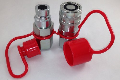 "TL23 Flat Face Hydraulic Quick Connect Couplers 1/2"" NPT for Bobcat Skid Steer Loaders"