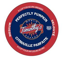 Timothy's World Coffee Perfectly Pumpkin K-Cup Coffee
